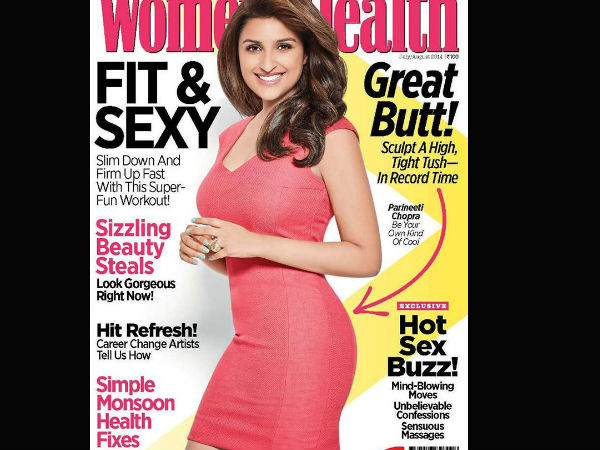 Parineeti Chopra on women health magazine