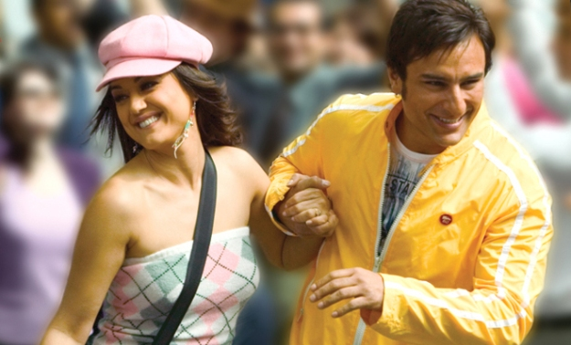 Saif ali khan and Preity Zinta in Happy ending